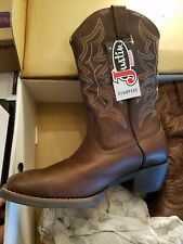 Justin boot brand men's western cowboy boots stampede size 12 EE new w/ tags