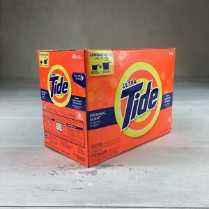 Ultra Tide Original Powder Laundry Detergent, 40 Loads, 56 oz, 56 Ounce New