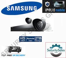 SAMSUNG sdh-p4021p Full HD 1080p 8 Channel 2 TELECAMERA CCTV video sistema di sicurezza