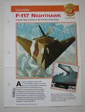 Lockheed F-117 Nighthawk, F117, profile advert, Aircraft of the World