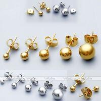 20G Bar Steel Gold Ball Cartilage Helix Tragus Ear Studs Unisex Earrings