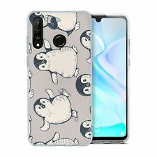 For Huawei P30 LITE Silicone Case Penguin Pattern - S346