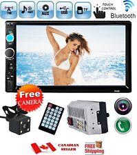 7inch 2DIN Car Stereo MP5 MP3 Player Bluetooth Touchscreen FM Radio Camera