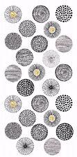 "13405-AC New Design Dandelion Rounds 3-1/2"" X 7-1/4"" Sheet Ceramic Decals Dx"