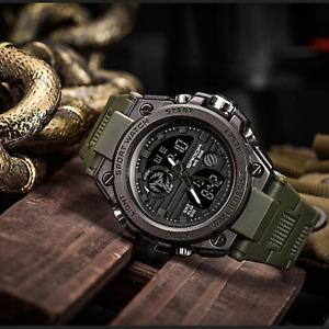 Montre Homme Militaire Digital Étanche Résistante Antichoc Bracelet Sport Neuf