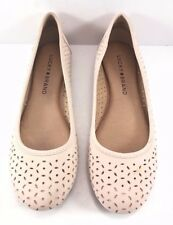 Lucky Brand Pink Leather Eaden 2 Perforated Ballet Flats Womens Size US 5.5M