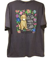Simply Southern Women's Short Sleeve T-Shirt Color Plum Size 2XL STAY IN HOME