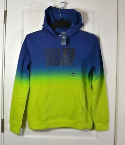 NWT KIDS YOUTH BOYS ABERCROMBIE GREEN TIE DYE HOODIE JACKET PULLOVER CHOOSE SZ