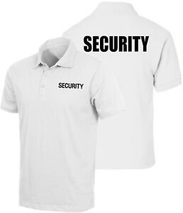 White Moisture Wicking Double Sided Security Guard Officer Polo Golf Shirt
