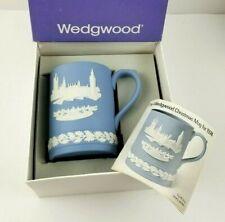Vintage Wedgwood Jasperware 1974 Christmas Mug Houses of Parliament w/ Box & COA