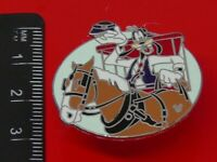 Used Disney Enamel Pin Badge Goofy Character on Horse 2007