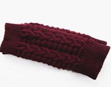 Womens Winter Long Fingerless Gloves Wrist Hand Warmer Stretch Knitted Mittens