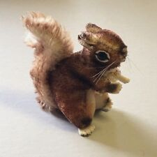 "VTG Mohair Steiff Perri Squirrel 3.5"" H x 4"" L Original Steiff Chest Tag EXC"