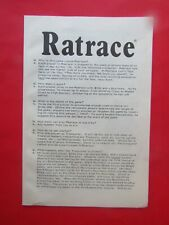WADDINGTONS RATRACE INSTRUCTION GUIDE RULES For 1984 Board Game Pieces