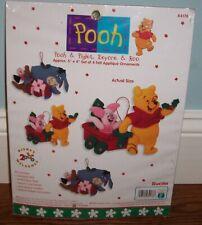 Bucilla Pooh & Piglet, Eeyore & Roo 84178  Ornament Kit  NEW   Disney Christmas