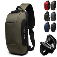 Comb. Lock Charging Port Water Resistant Chest Pack Sling Bag One Strap Backpack