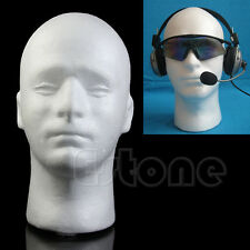 Male Styrofoam Mannequin Head Model Manikin Wig Glasses Hat Display Stand Foam
