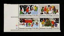 US Plate Blocks Stamps #2027-30 ~ 1983 CHRISTMAS 20c Plate Block MNH