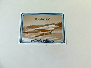 Alaska Airlines 4 1/2x 3 1/2 Card, DC-3(C47),part of set w/facts on reverse 1997