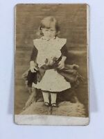 Victorian Carte De Visite CDV: Young Girl Toy Doll