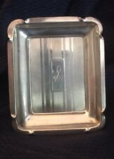 Initial Monogram S WEBSTER Antique Sterling Silver Deco Trinket Tray Dish