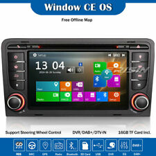Car Stereo Radio DAB+3G GPS Sat Nav BT DVD DVR Canbus SWC AUDI A3 S3 RS3 RNSE-PU