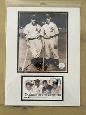 Lou Gehrig & Joe DiMaggio Yankee Photo Lot - Yankees Of The Century Photos