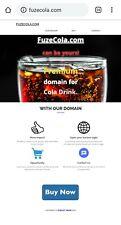 Fuze Cola.com | PREMIUM DOMAIN NAME FOR COLA DRINKS.