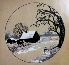 Bucilla CREWEL EMBROIDERY KIT Frosted Countryside Old Truck Barn