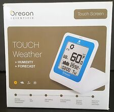 Oregon Scientific Touch Weather Thermometer Humidity Forecast Station SL103
