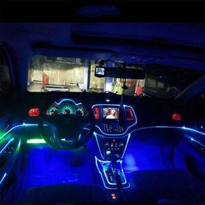 Car Auto Interior LED Decor Wire Strip Atmosphere Cold Light Blue Universal