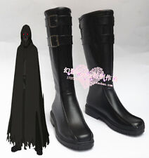 Anime Sword Art Online Death Gun Black Halloween Long Cosplay Boots Shoes H016