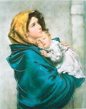 Mary Jesus Madonna With a Child Del Riposo Roberto Ferruzzi Printed Icon 20x25cm