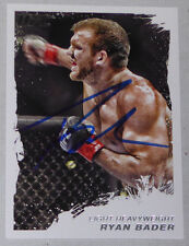 Ryan Bader Signed 2011 UFC Topps Moment of Truth Card #111 Autograph 192 174 144