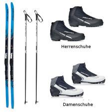 Fischer Langlaufski-Set APOLLO EF blau  klassisch + Bindung + Schuhe + Stöcke