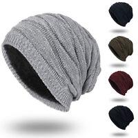 US Men Women Knit Baggy Beanie Winter Hat Ski Slouchy Knitted Cap Warmer Hats