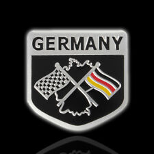 Metal Racing Car German Flag Emblem Grille Badge Sticker Decal For VW BMW Benz