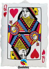 """30"""" Casino Card Night Party Decoration Playing Card Design Giant Foil Balloon"""
