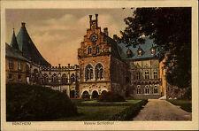 Bentheim Niedersachsen AK 1924 Innerer Schlosshof Schloss Burg Castle gelaufen