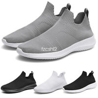 Men's Casual Running Knit Sport Shoes Athletic Slip-on Loafers Sneaker Boots