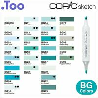 "Copic Sketch Marker Pen ""BG(Blue Green) Color Series"""