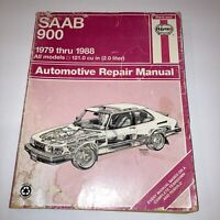 Haynes Repair Manual for Saab 900 Sedan 2.0L Hatchback 1979-88, Turbo, 16 Valve