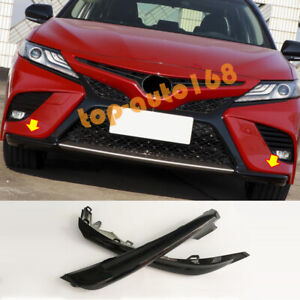 Black Replace Front Bumper Side Protector 2pcs For Toyota Camry SE/XSE 2018-2020