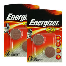 4 x Energizer Lithium CR2450 batteries 3V Coin cell DL2450 ERC2450 Pack of 2