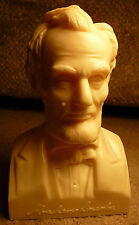 "16th USA President Abraham Lincoln 6.5"" Plastic Hollow Bust Honest Abe 2 Piece"
