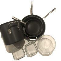Calphalon Cooking Pots And Pans Set Plus Glass Bowl Package