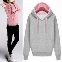 Women Fashion Hoodie Sweatshirt Jumper Long Sleeve Hooded Coat Pullover Sweats
