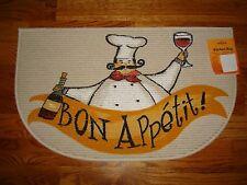 Mohawk Home 18x30 Slice Kitchen Accent Rug Chef WINE Bon Appetit COOK Eat DRINK!