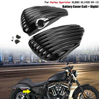 Paar LH+RH Batterie Abdeckung Seitendeckel Für Harley Sportster XL883 1200 04-13