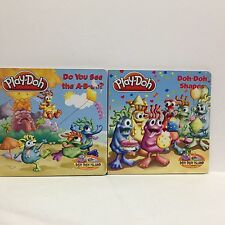 2 PC Lot Play-Doh Boardbooks Do You See The ABCs/Doh-Doh Shapes 255 Free Ship
